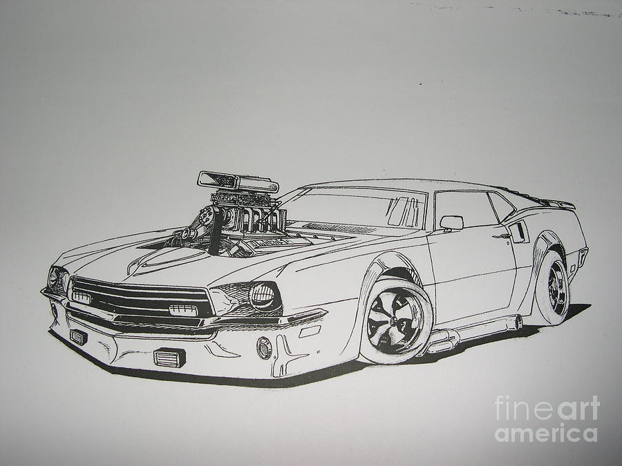Muscle Cars Mustang Drawings How to Draw Muscle Cars