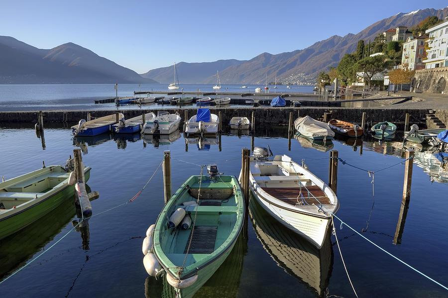 Port Photograph - Ascona - Lake Maggiore by Joana Kruse