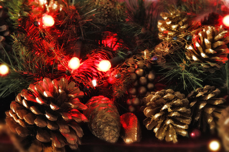 Christmas Tree Decorations Photograph  - Christmas Tree Decorations Fine Art Print
