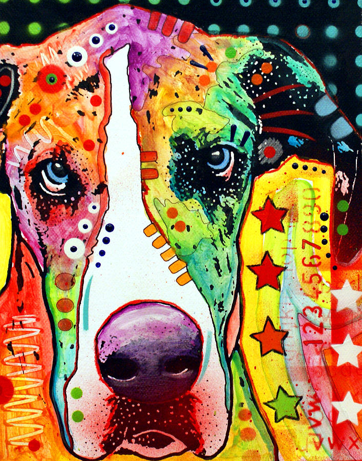 Great Dane Painting  - Great Dane Fine Art Print