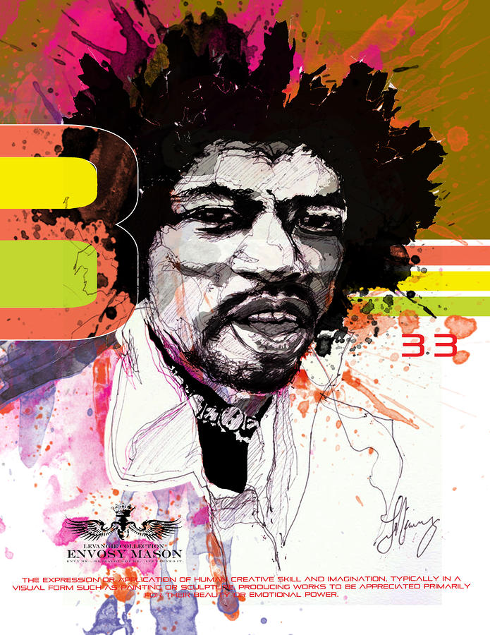 Jimi 333 Mixed Media  - Jimi 333 Fine Art Print