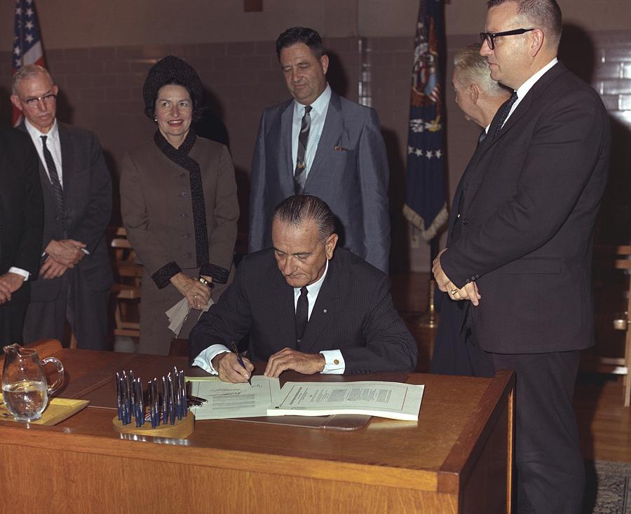 Lbjs Great Society Programs. President Photograph