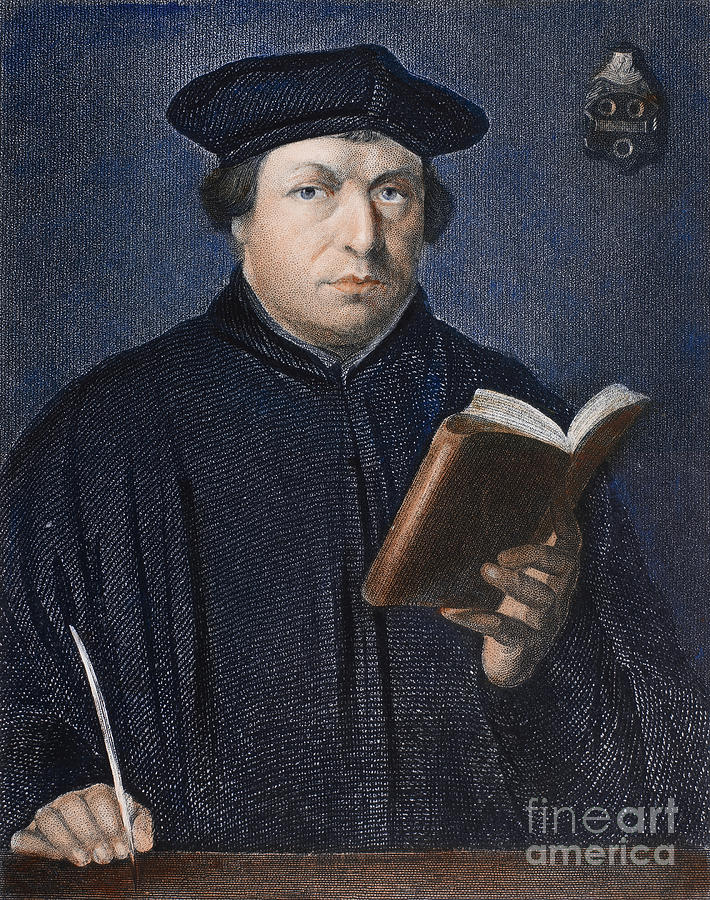 Martin Luther (1483-1546) Photograph  - Martin Luther (1483-1546) Fine Art Print