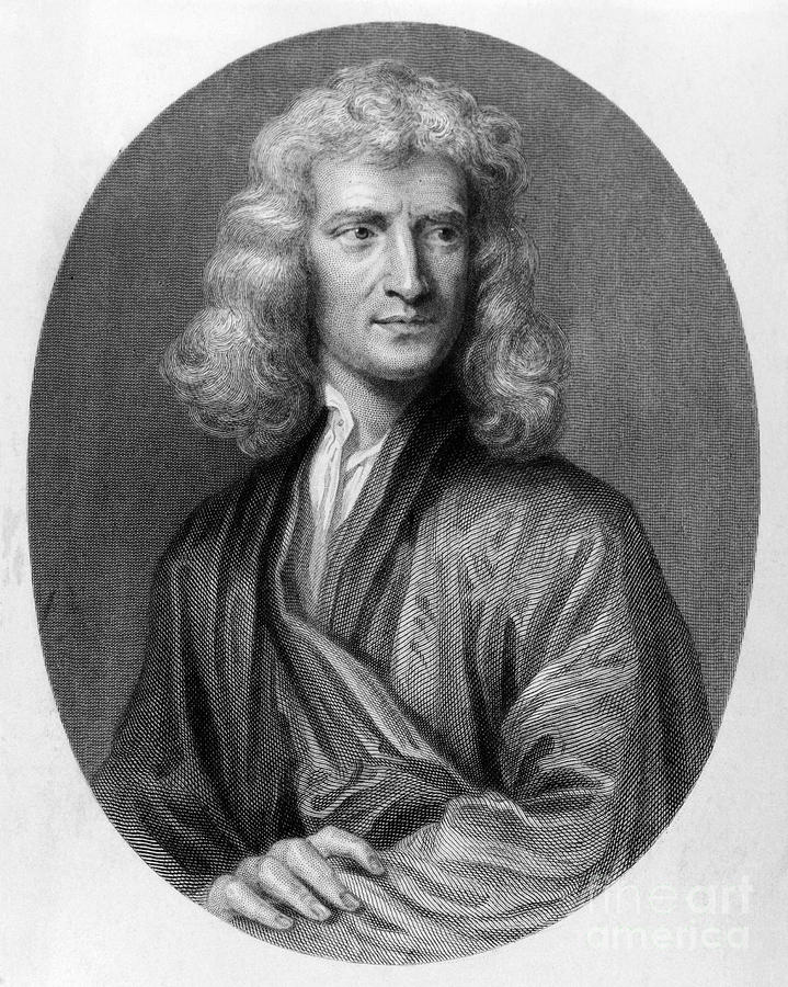 Sir Isaac Newton (1643-1727) is a photograph by Granger which was ...