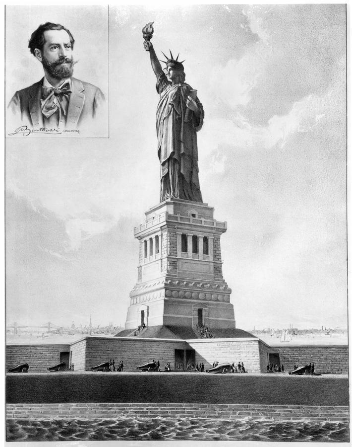Statue Of Liberty, 1886 Photograph