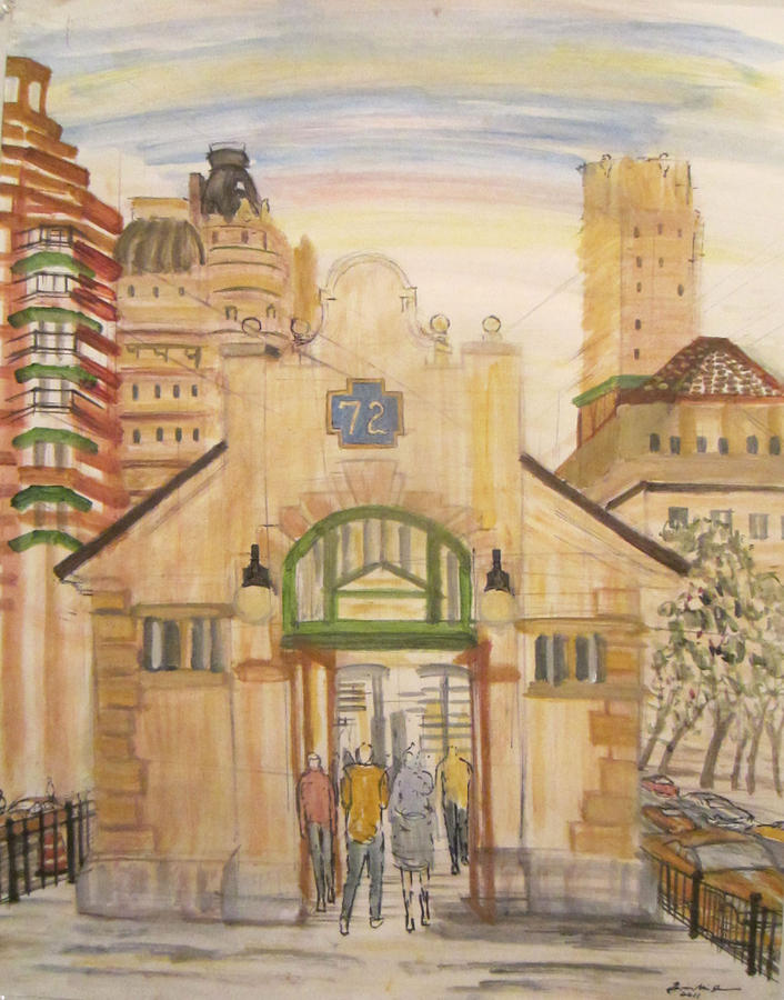 72nd Street Subway Station Painting
