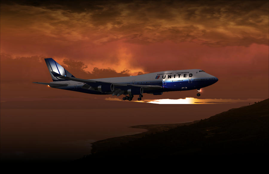 747-400 02 Approach Phog Digital Art