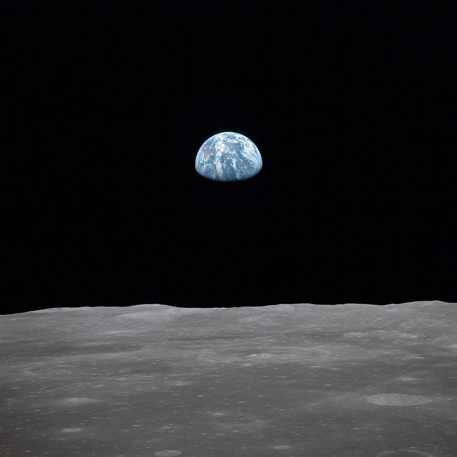 Apollo 11 Earth Rise Over The Moon by Everett