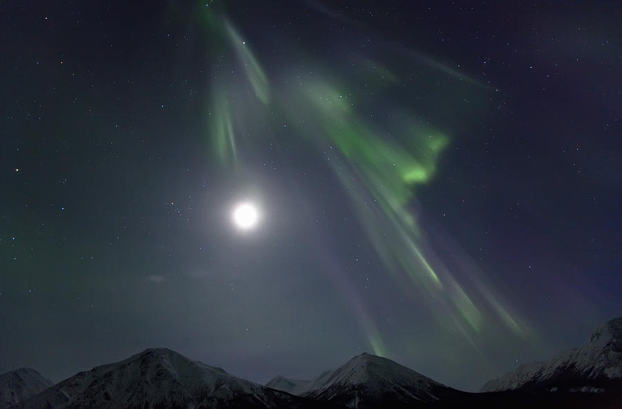 Aurora Borealis Or Northern Lights Photograph