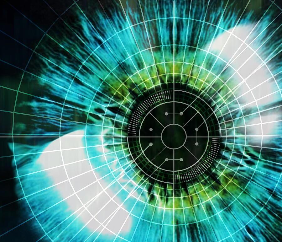 Eye Photograph - Biometric Eye Scan by Pasieka
