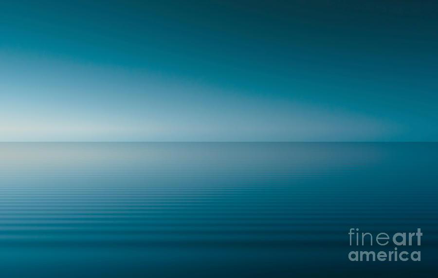 Blue Lake Digital Art  - Blue Lake Fine Art Print