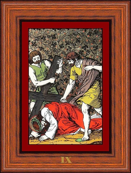 Drumul Crucii - Stations Of The Cross  Painting  - Drumul Crucii - Stations Of The Cross  Fine Art Print