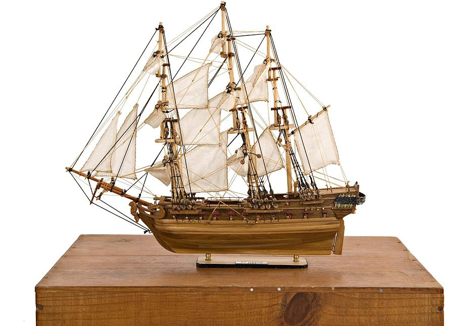 Model Ship Sculpture