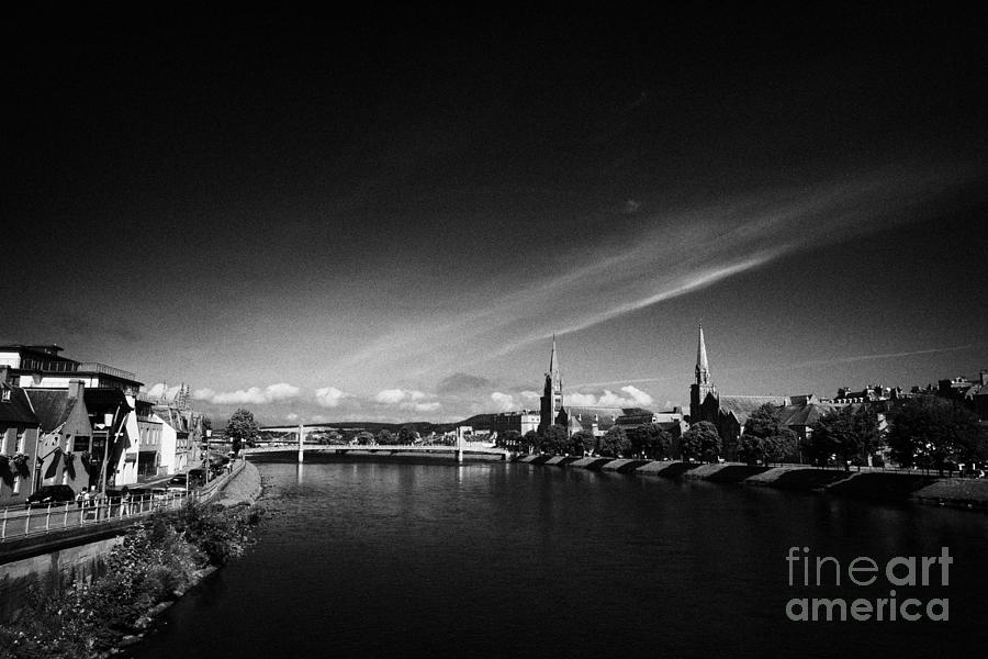 River Ness Flowing Through Inverness City Highland Scotland Uk Photograph  - River Ness Flowing Through Inverness City Highland Scotland Uk Fine Art Print
