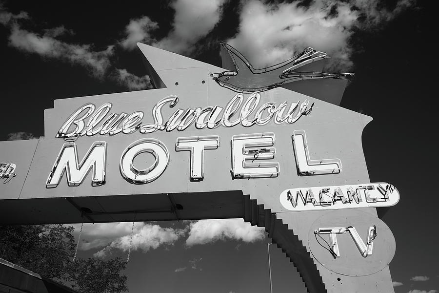 Route 66 - Blue Swallow Motel Photograph  - Route 66 - Blue Swallow Motel Fine Art Print