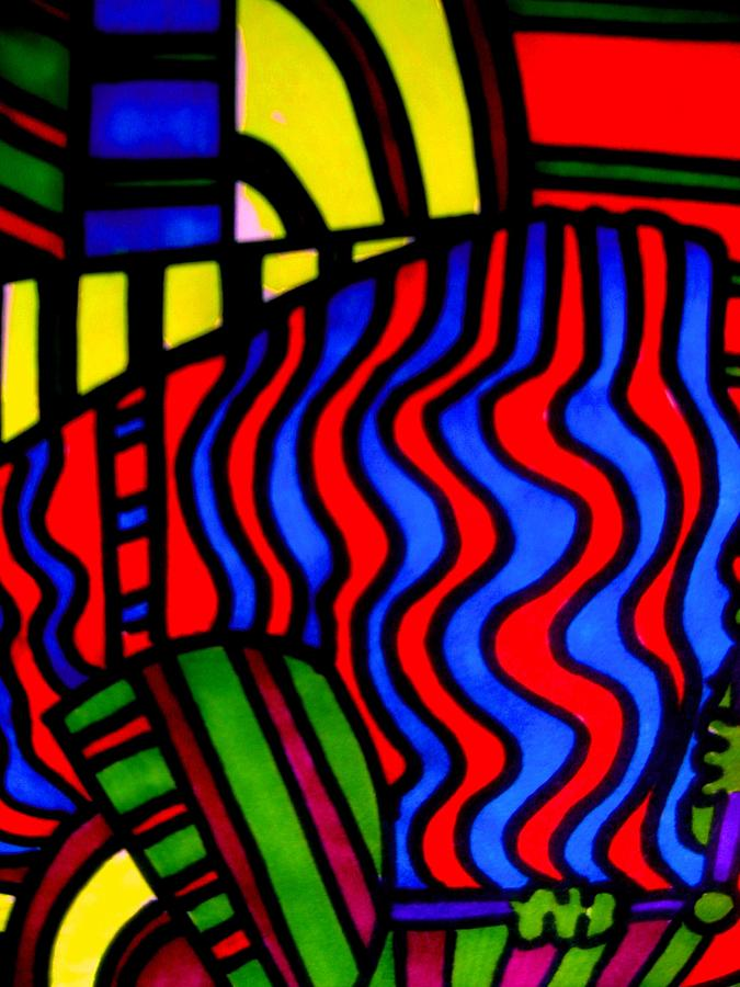 Abstract Impression Drawing - She Comes In Colors by Allen n Lehman