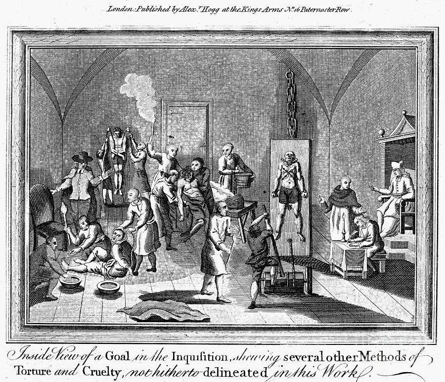 18th Century Photograph - Spanish Inquisition by Granger