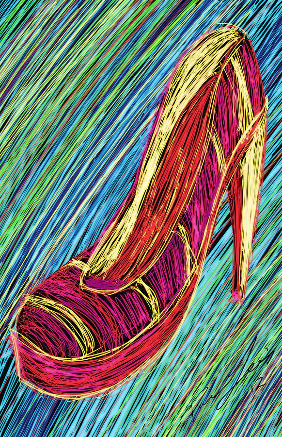 80s High Heels Painting