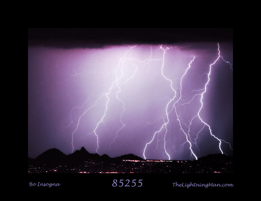 85255 Fine Art Arizona Lightning Photo Poster Photograph  - 85255 Fine Art Arizona Lightning Photo Poster Fine Art Print