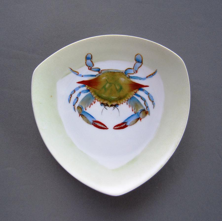 Porcelain Ceramic Art - 866 1 Part Of  Crab Set 1 by Wilma Manhardt