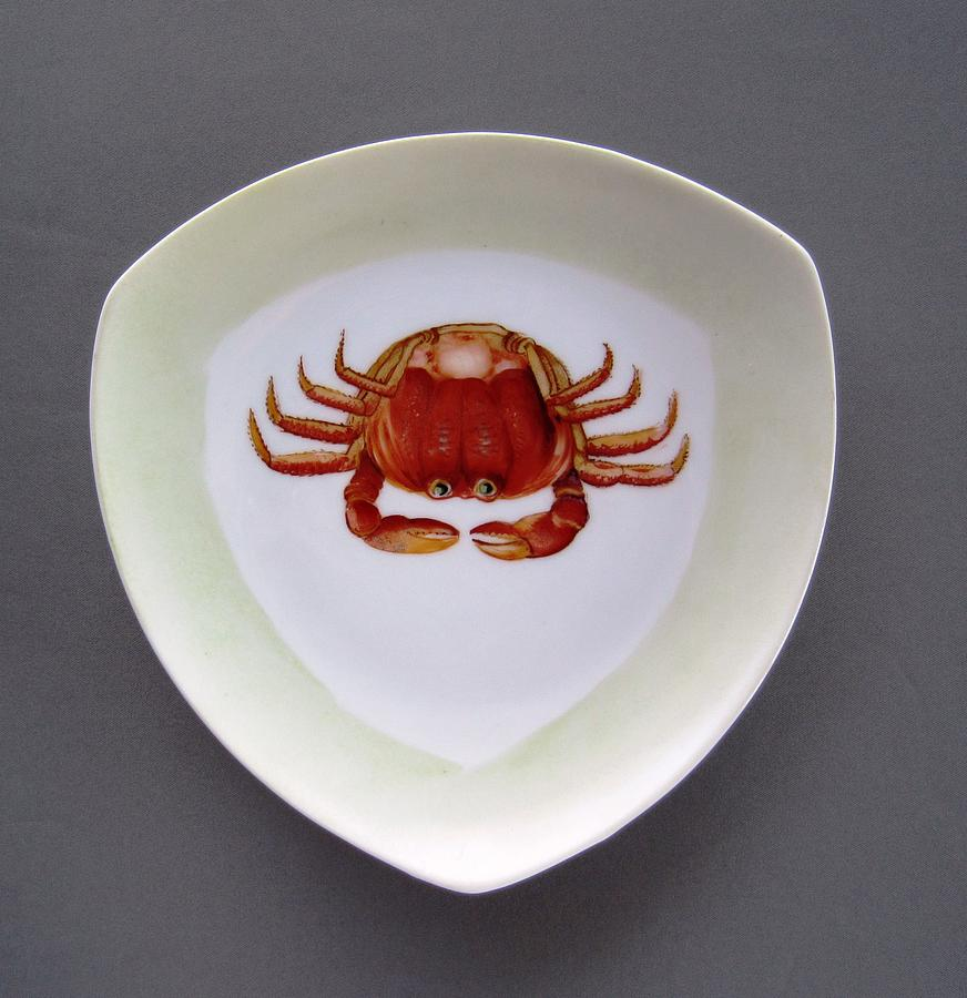 866 3 Part Of Crab Set 1 Ceramic Art  - 866 3 Part Of Crab Set 1 Fine Art Print