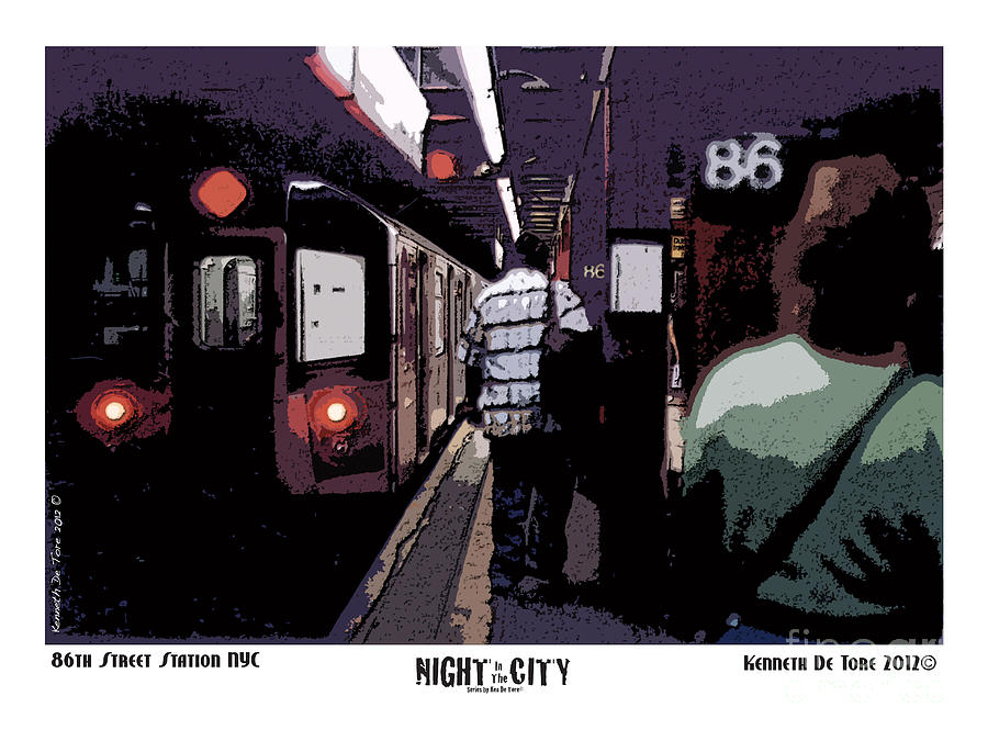 Subway Photograph - 86th Street by Kenneth De Tore