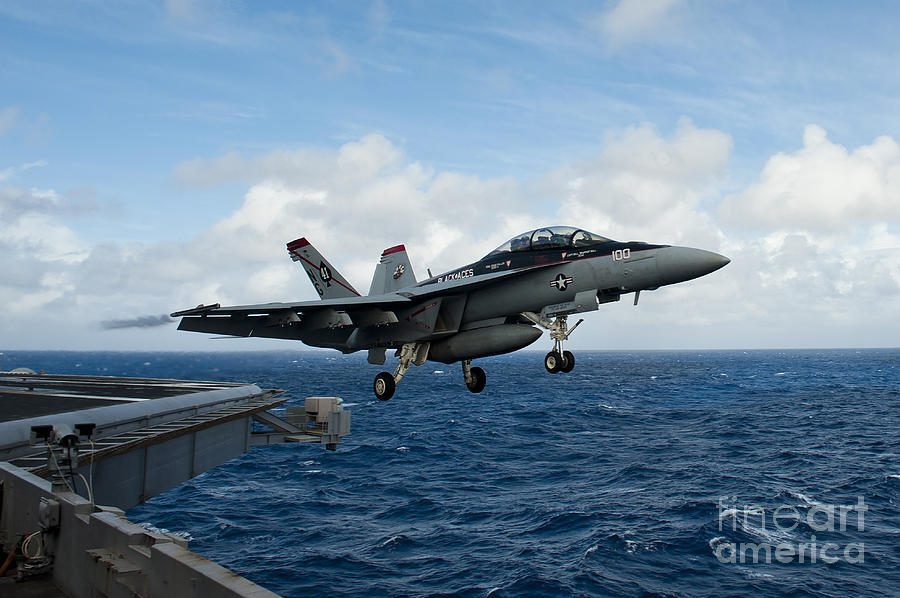 An Fa-18f Super Hornet Launches Photograph