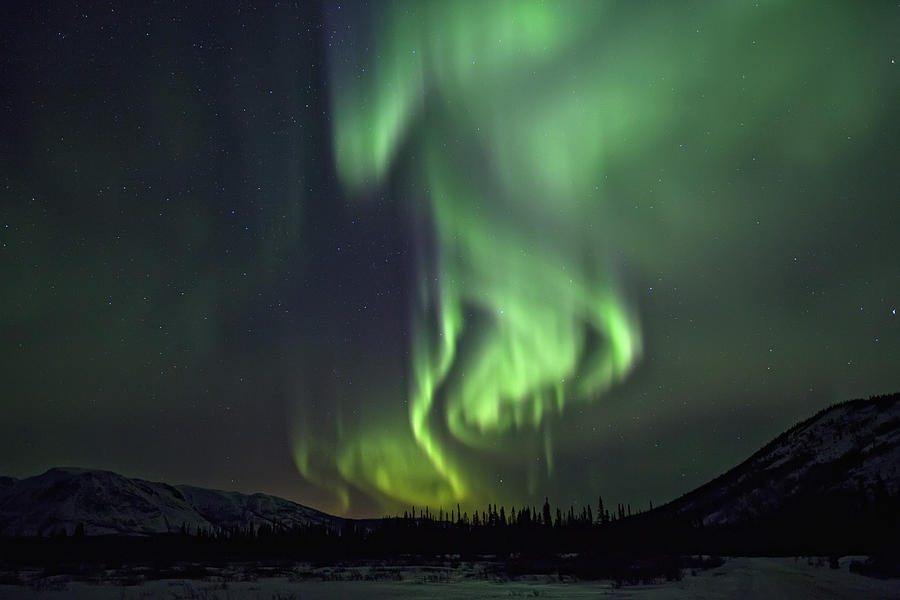 Aurora Borealis Or Northern Lights Photograph
