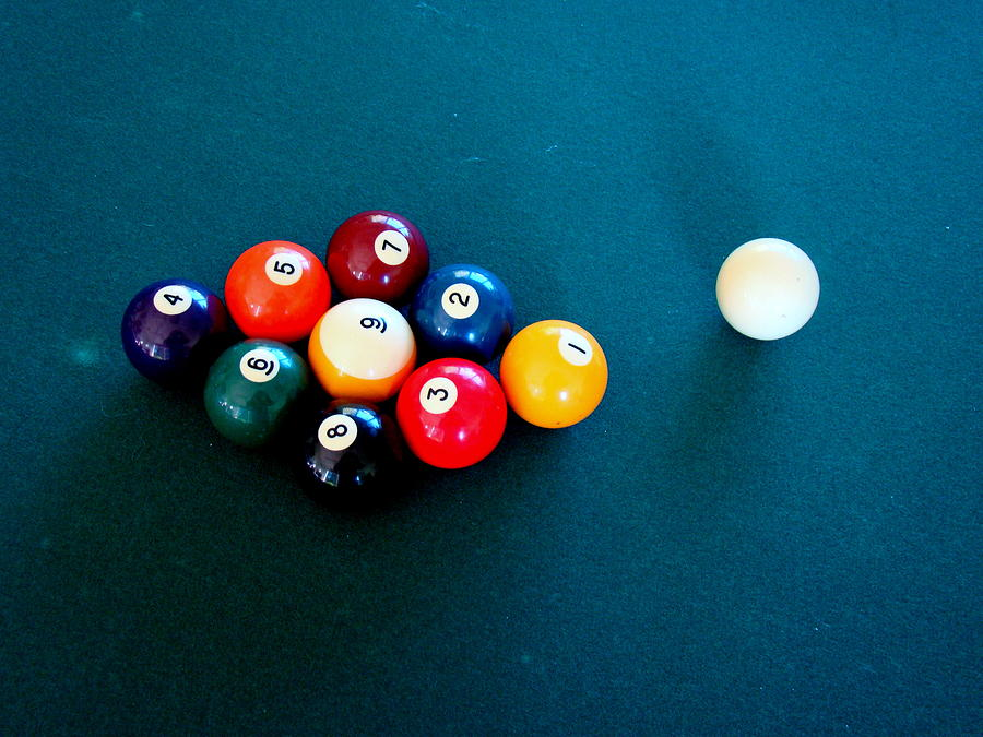 Pool Photograph - 9 Ball by Nick Kloepping