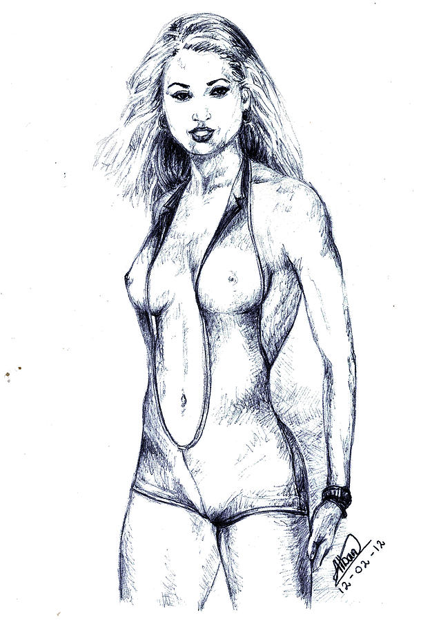Model Drawing  - Model Fine Art Print