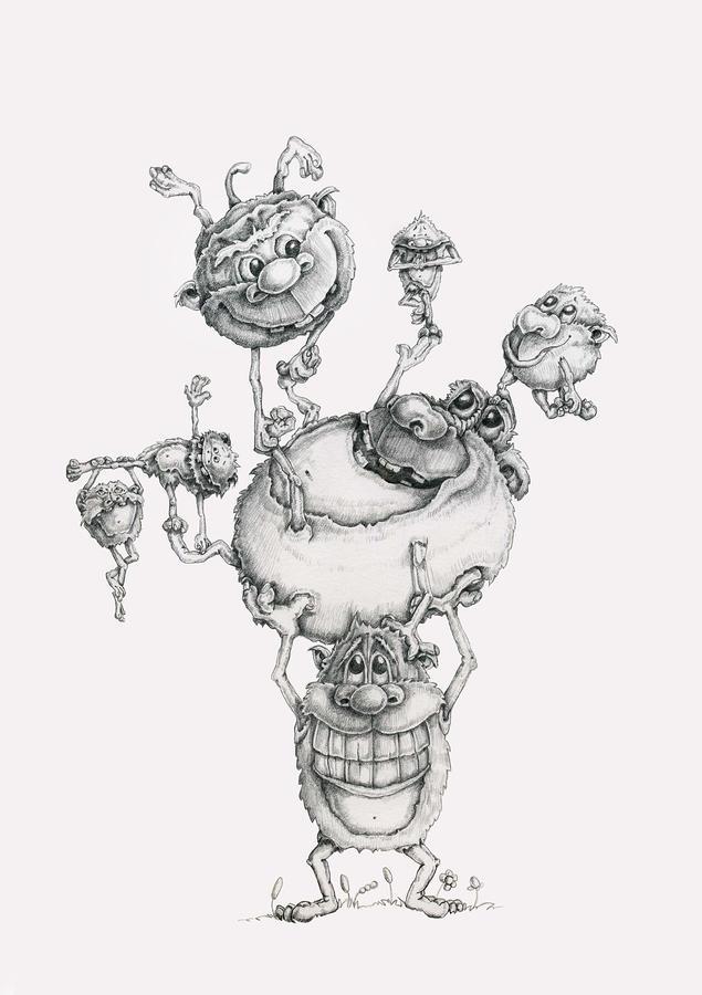 A Balancing Act Drawing