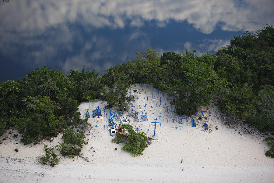 A Beach Cemetery Beside The Rio Negro Photograph