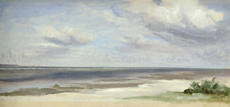 A Beach On The Baltic Sea At Laboe Painting