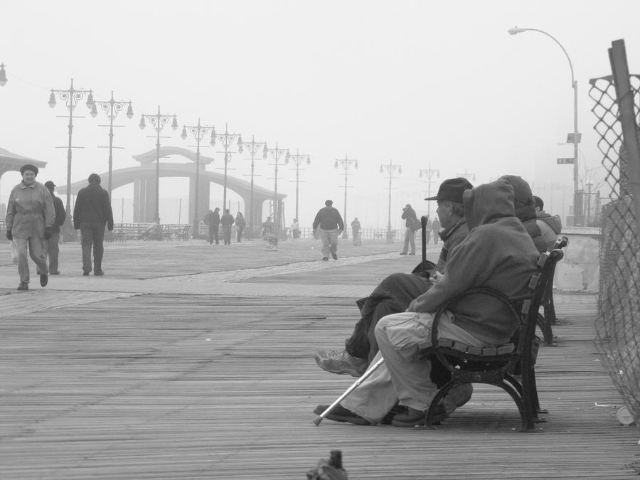 A Bench At Coney Island Photograph