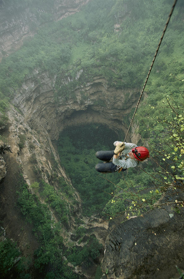 A Biologist Ascends Tawi Attair Photograph