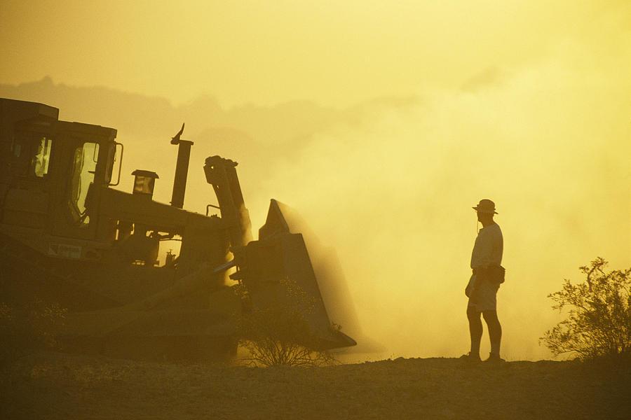 Equipment Photograph - A Biologist Watches For Desert by Joel Sartore