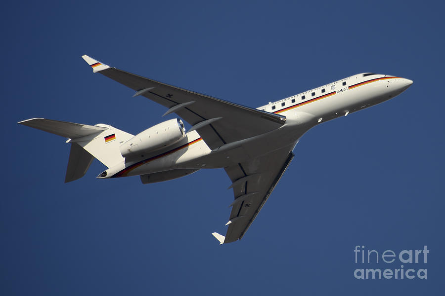 A Bombardier Global 5000 Vip Jet Photograph  - A Bombardier Global 5000 Vip Jet Fine Art Print