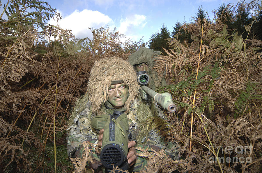 A British Army Sniper Team Dressed Photograph  - A British Army Sniper Team Dressed Fine Art Print