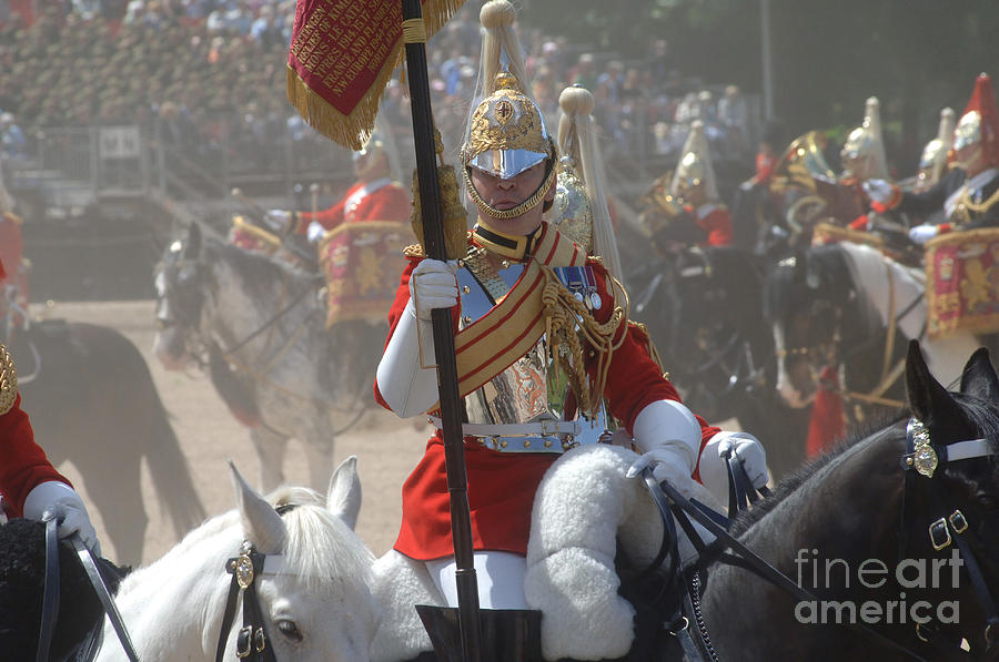Trooping The Colour Photograph - A British Life Guard Of The Household by Andrew Chittock