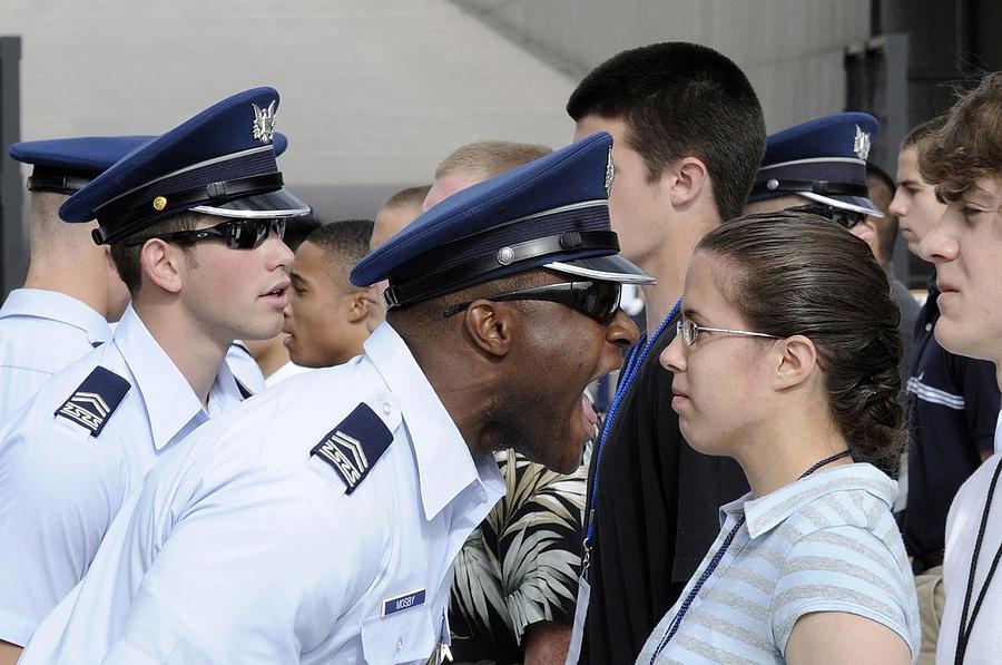 A Cadet 2nd Class Yells Instructions Photograph