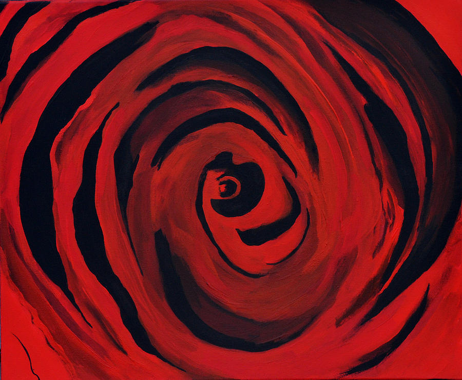 A Centered Rose... Painting  - A Centered Rose... Fine Art Print
