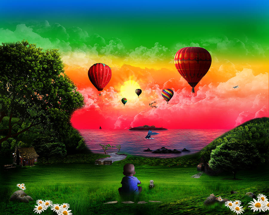 A Childs View Digital Art