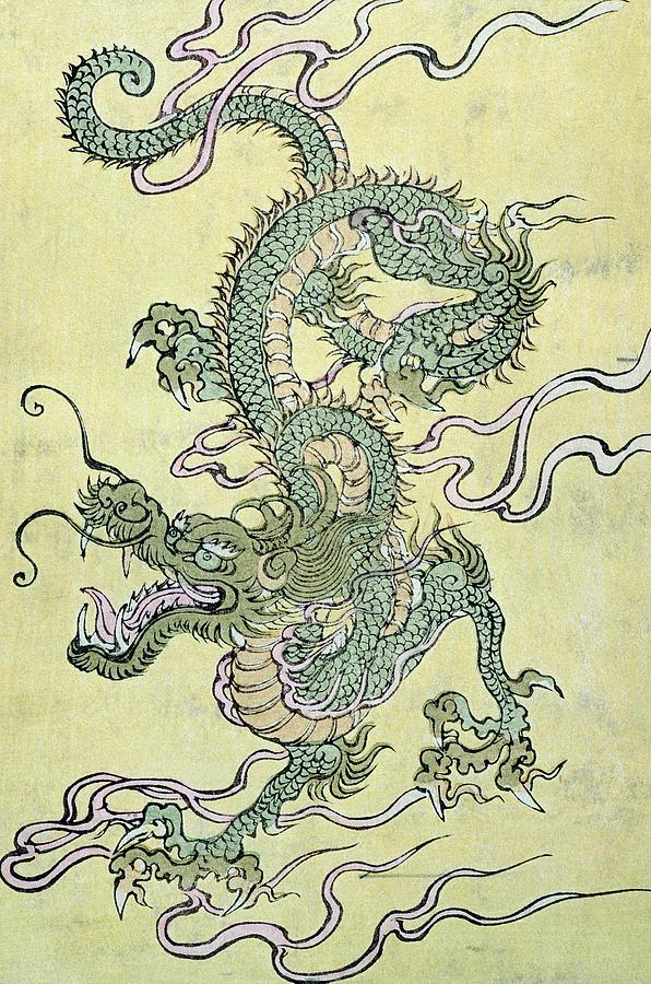 A Chinese Dragon Painting