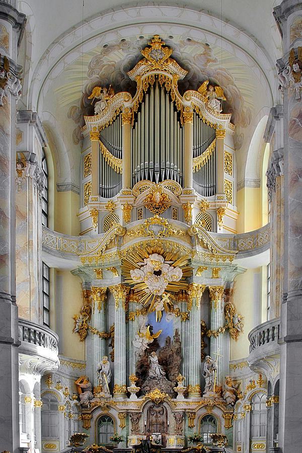 A Church Filled With Music - Church Of Our Lady Dresden Photograph  - A Church Filled With Music - Church Of Our Lady Dresden Fine Art Print