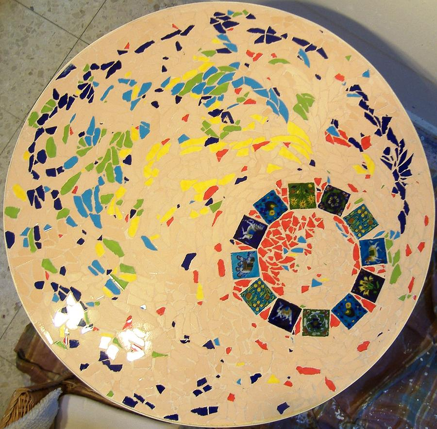 Table Ceramic Art - A Circle In Motion by Ofra Moran