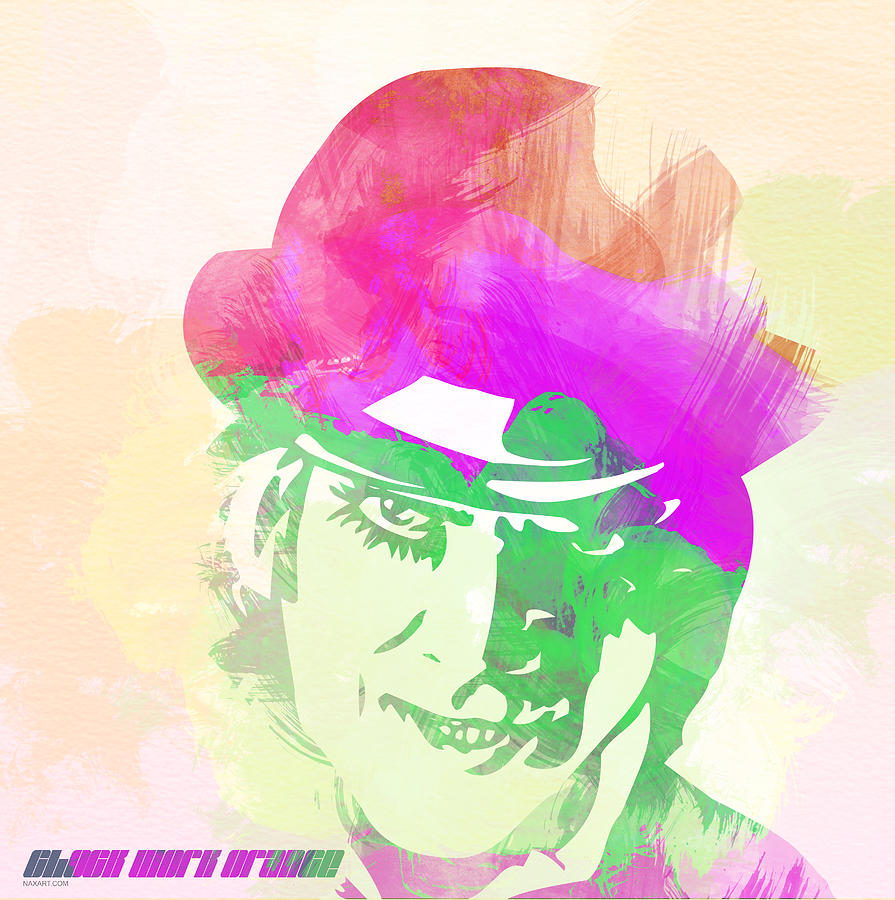 A Clockwork Orange Digital Art  - A Clockwork Orange Fine Art Print