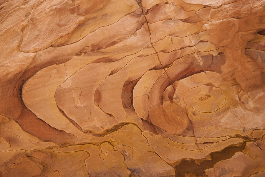A Close View Sandstone Rocks Of Petra Photograph