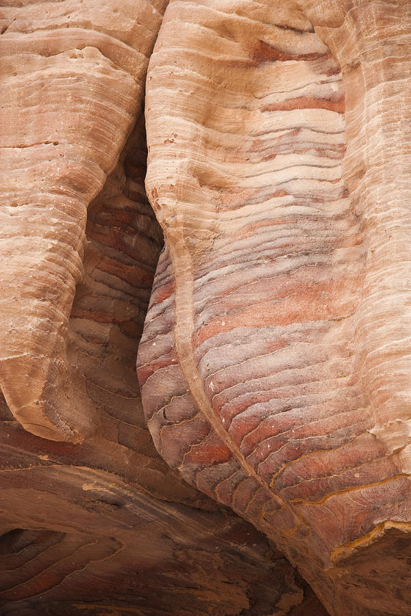 A Close View The Layered Sandstone Photograph