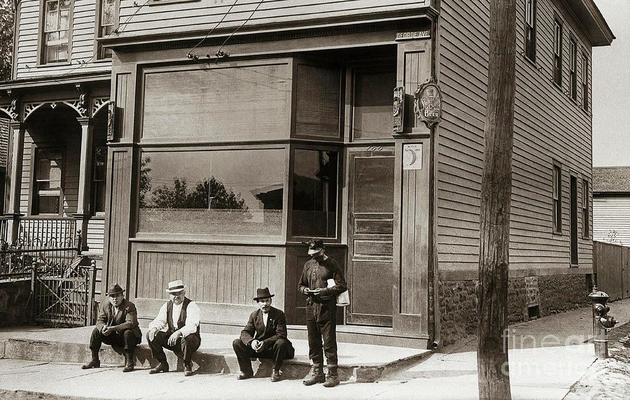 A Coal Miners Bar  George Ave Parsons Pennsylvania Early 1900s Photograph
