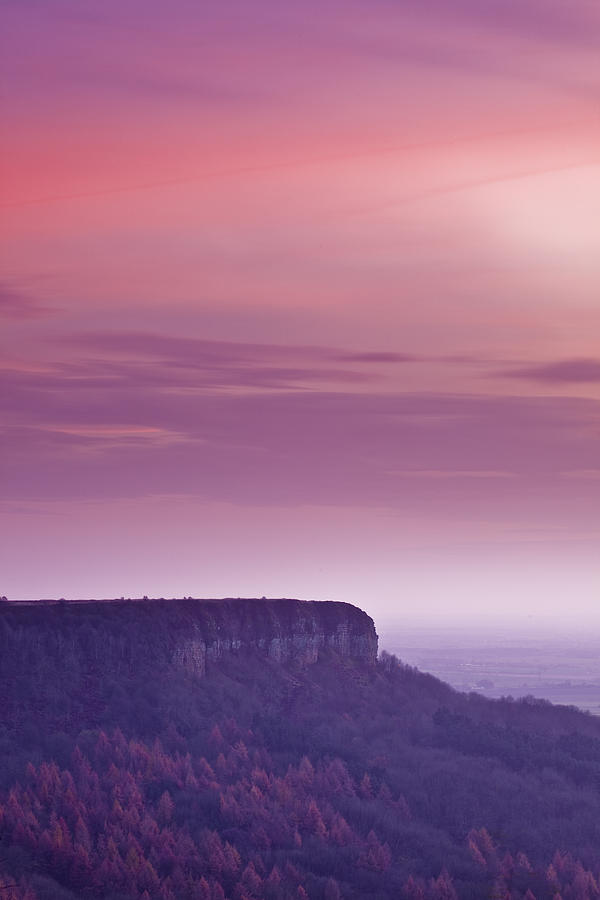 A Colourful Sunset Over Sutton Bank Photograph  - A Colourful Sunset Over Sutton Bank Fine Art Print